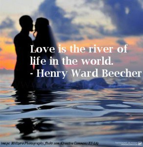 Couple in river - Sentimental love quotes
