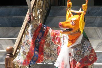 Mask dancer - Buddhist monk