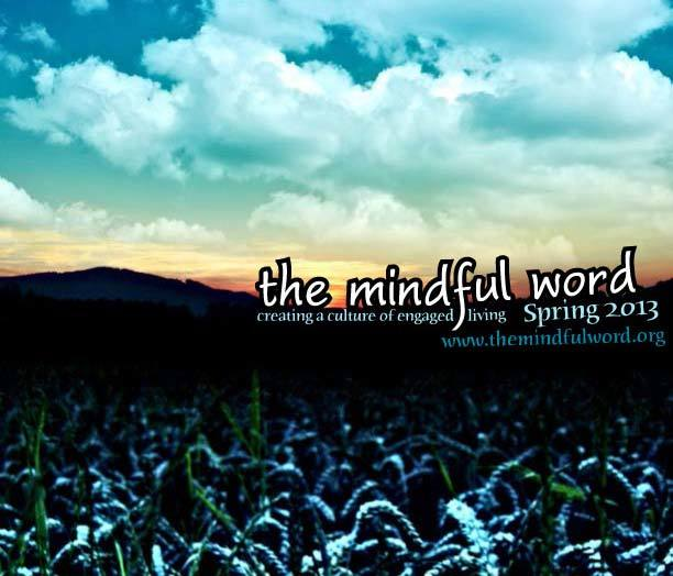 Digital magazine cover - The Mindful Word Spring 2013