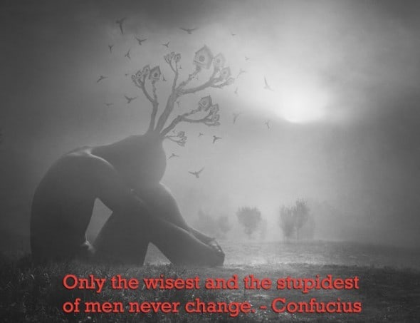 In reflection - Words of Wisdom quote - Confucius