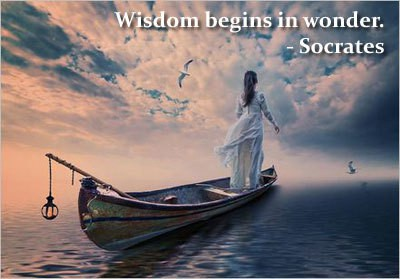 Woman on boat - Words of wisdom quotes - Socrates quotation