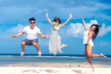 beach blue sky habits - happiest