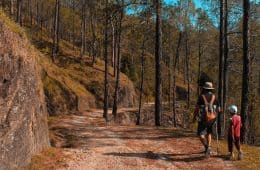 mountains adult - kids hiking