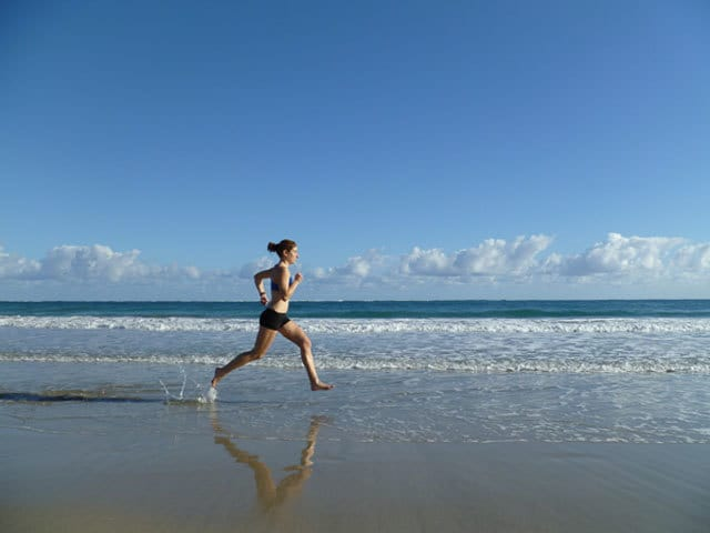 Runner on beach - reboot your life