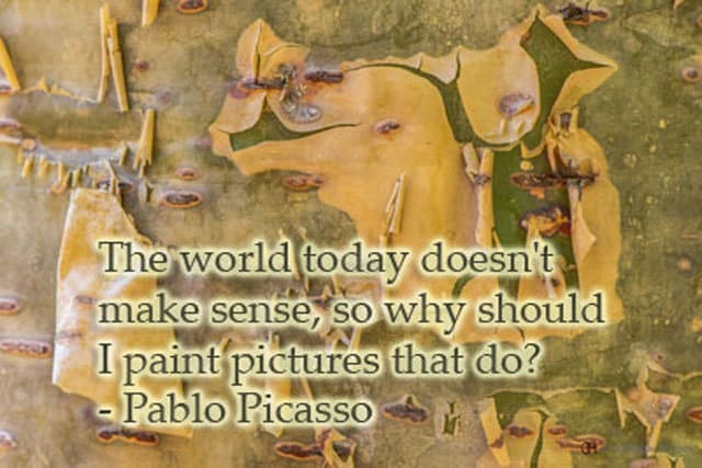 Funny quote by Pablo Picasso