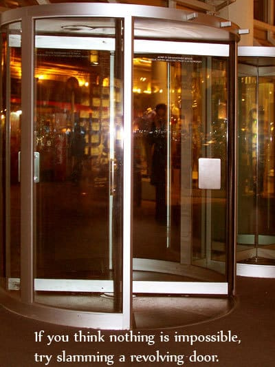 revolving door - joke / quote