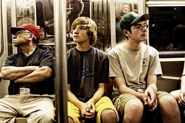 Subway riders - mindful of the routine