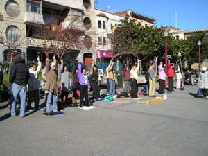 People doing Tai Chi on street - Nobody Knows You fiction