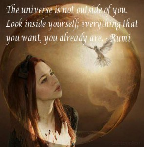 Girl viewing universe - confusing quotes to contemplate