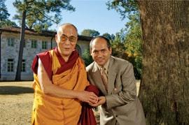 Geshe Lobsang Tenzin Negi with His Holiness the Dalai Lama
