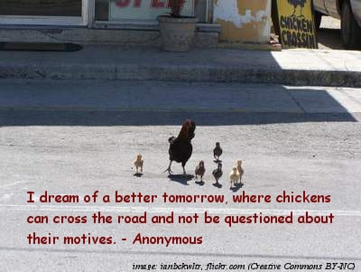 Chickens crossing road - The funniest quotes ever