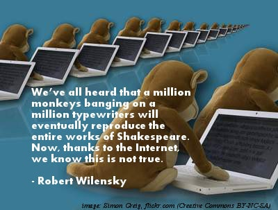Monkeys on laptops - The funniest quotes ever