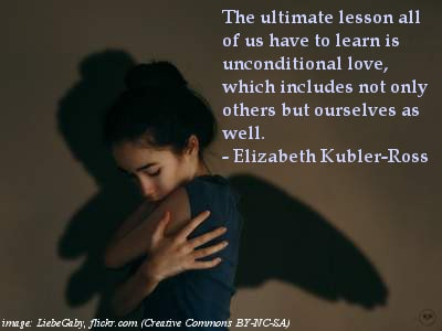 Hugging self - Unconditional love quotes