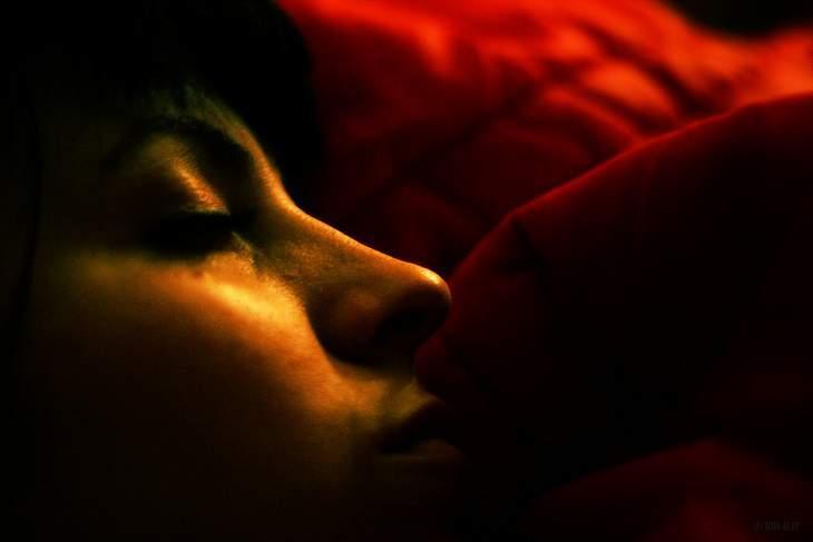 Person sleeping - A good night's sleep