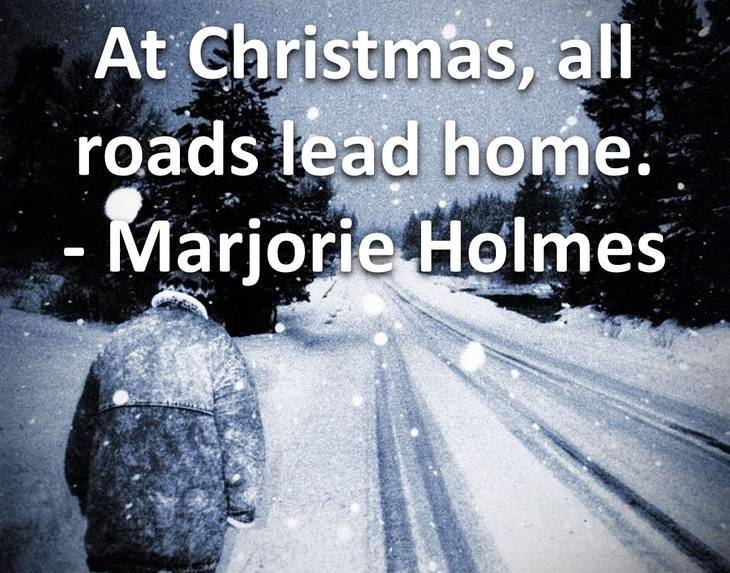 Snowy road - Short Christmas quotes
