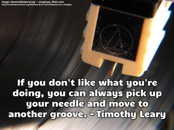 Record player's needle - Hippie quotes