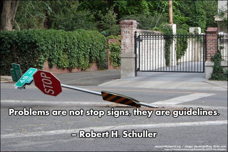 Stop sign falling over - Free motivational quotes