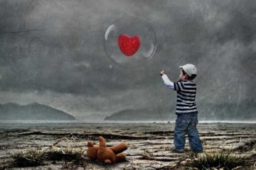 Child chasing after heart