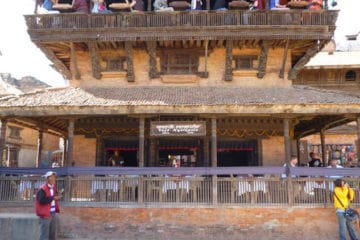 With so many pagodas in Bhaktapur this one got converted into a restaurant