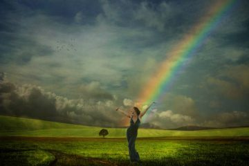Woman and rainbow - Chris Chickering music review