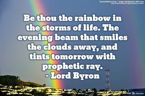 Rainbow - Inspirational life quotes