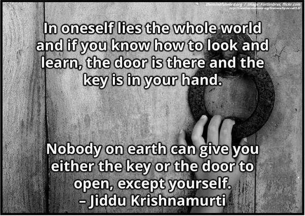 Hand on door - Inspirational life quotes