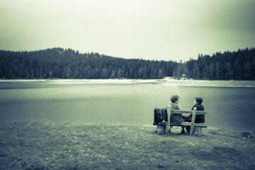 Women on isolated bench - Susan Ksiezopolski poetry