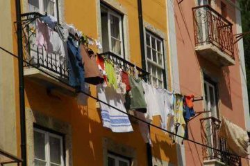 clothesline outside window - 5 ways to build community
