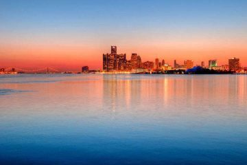 Detroit skyline - Water and Welfare: Detroit's Water Crisis
