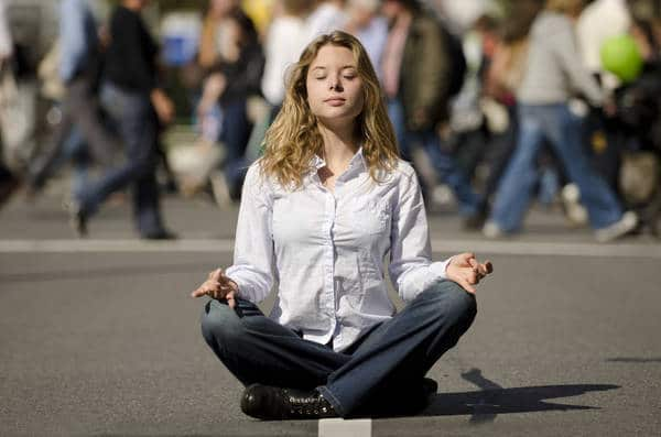 Meditating in street - Cultivating awareness beyond mindfulness