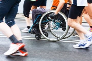 Wheelchair in road race - Empowering people with disabilities