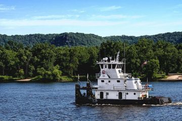 Towboat - Long-ago riverboat days