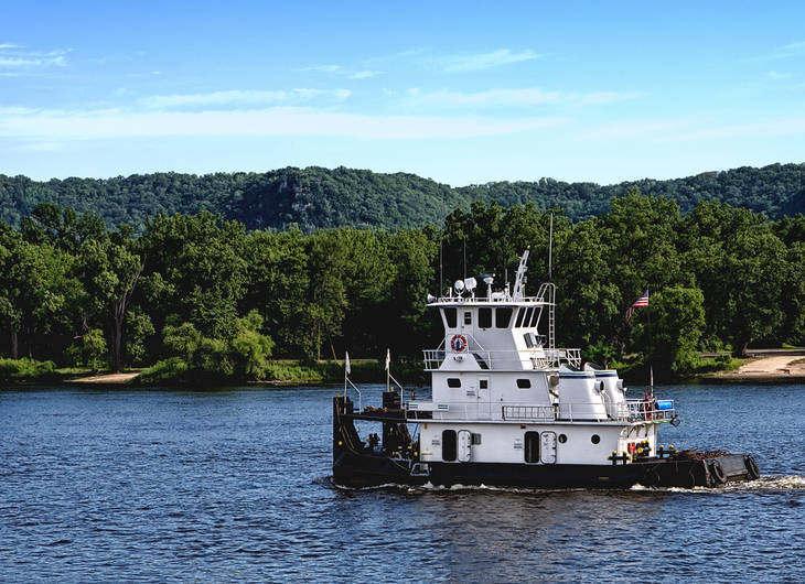 Towboat - Long-ago riverboat days