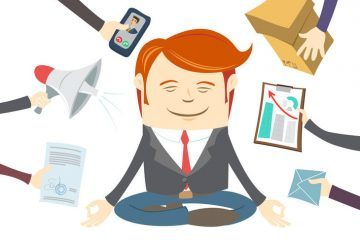 Busy man meditating - Why bother with meditation