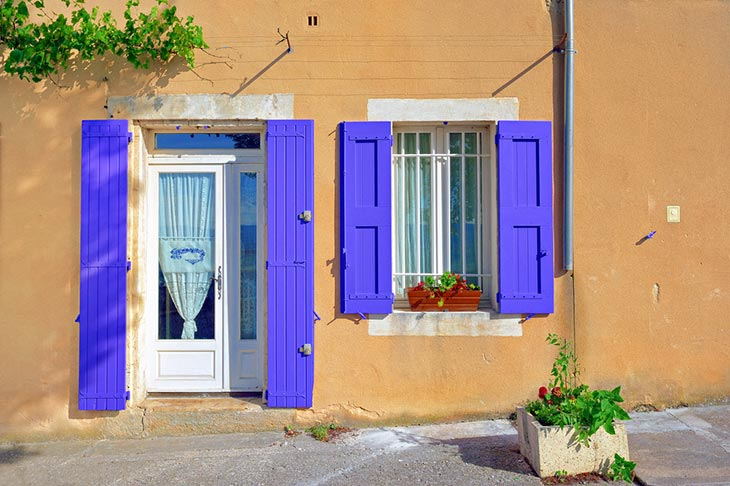 Open door and window