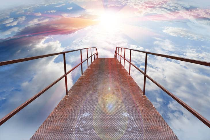 Gateway in sky - Being present in life