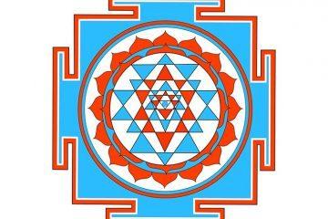 Indian form of mandala, sri yantra