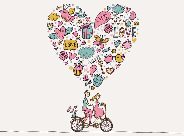 Couple on tandem bike