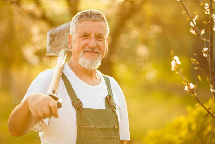 Man with shovel - Depression and its antidote