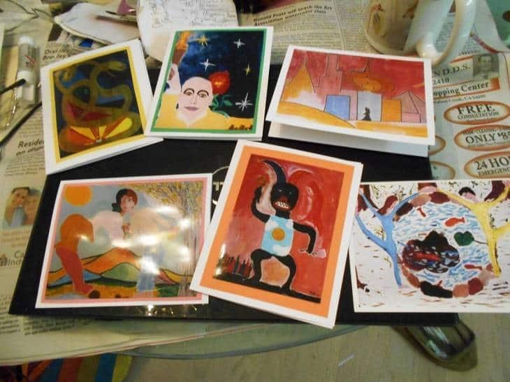 Six art postcards - Talk about surrealism