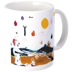 Painted coffee mug - Talk about surrealism