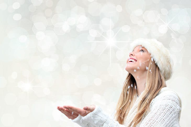 Woman in snow - Overcoming dysthymia depression