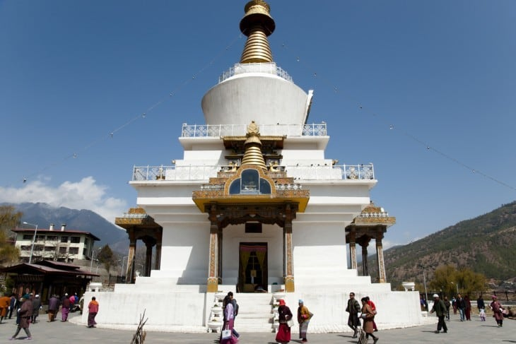 Memorial Chorten in Thimphu, Bhutan