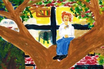 Man sitting in tree - Poems by Max Reif