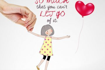 Girl releasing balloon - Letting go quote by Ginni Rometty