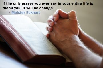 Meister Eckhart - Keep the faith quotes - hands on book praying
