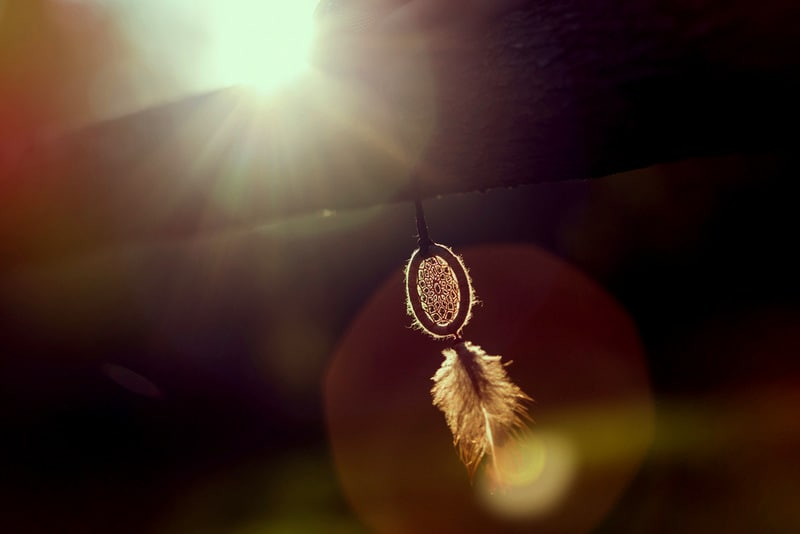 dreamcatcher in the sunset