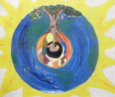 Mothertree painting - Ladder of Renewal