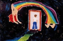 Rainbow woman painting - Poem by Max Reif
