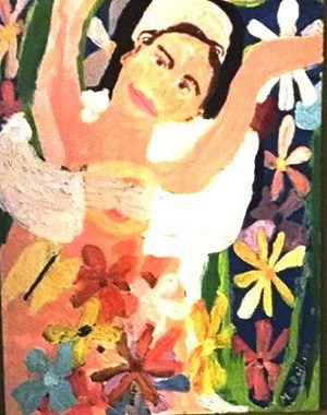 Meher Baba/flower painting - Poem by Max Reif